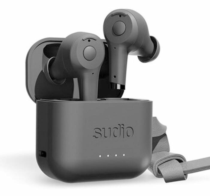 svarta true wireless trådlösa hörlurar från sudio
