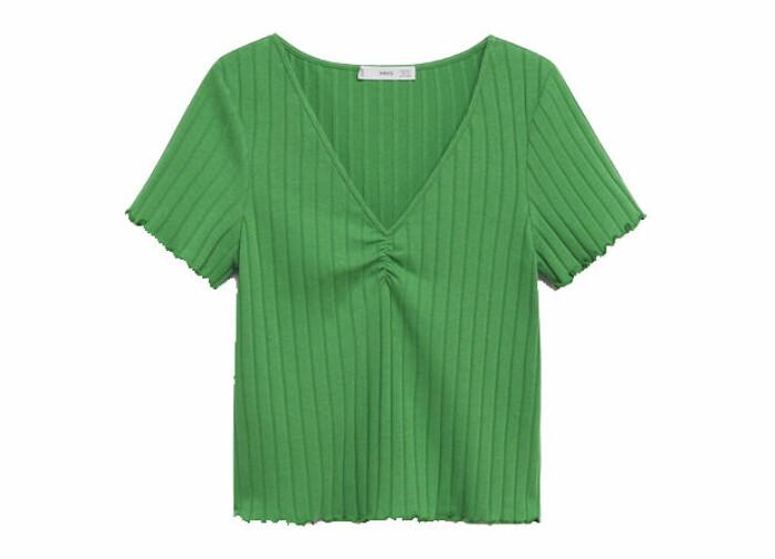 grön tshirt v-ringad dam