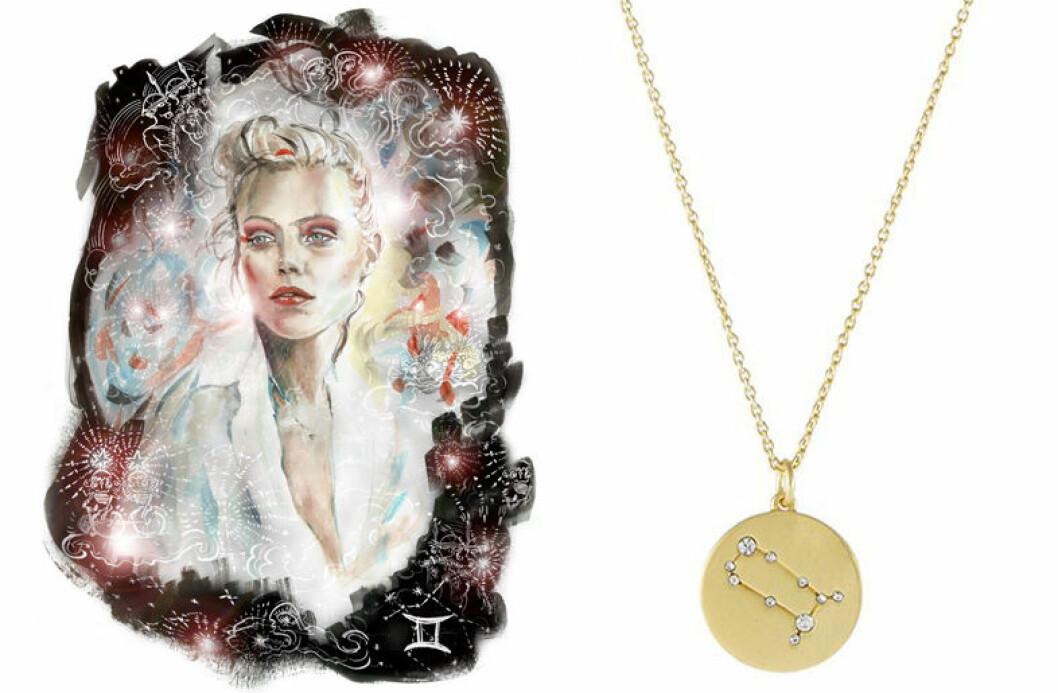tvillingarna smycke stjarntecken halsband horoskop