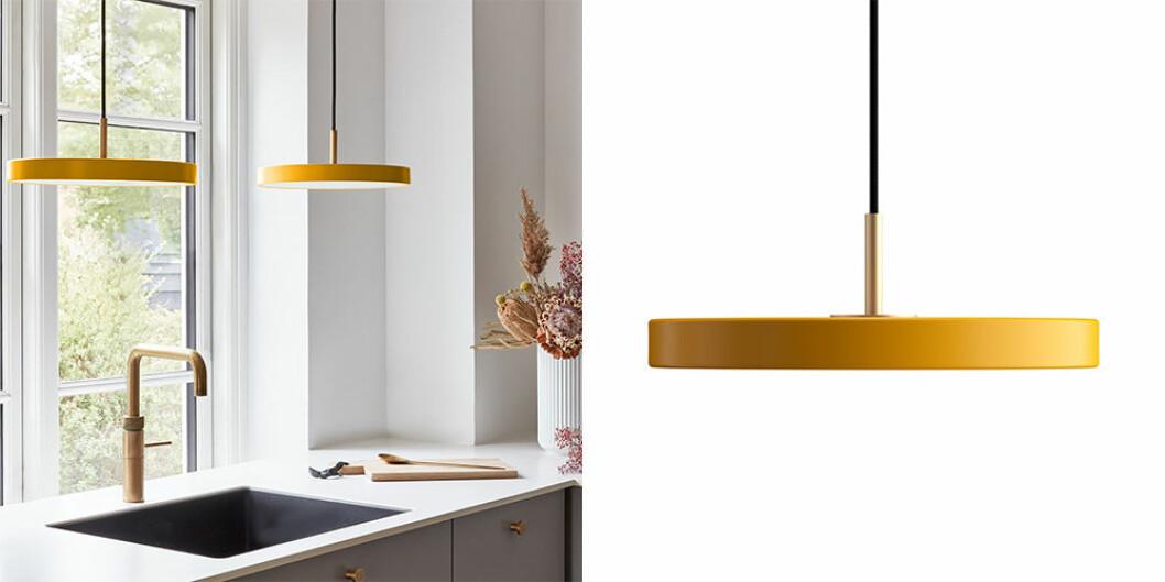 gul lampa från umage