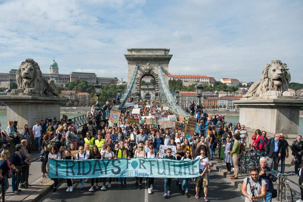 Greta Thunbergs strejk för klimatet ägde bland annat rum i Ungern