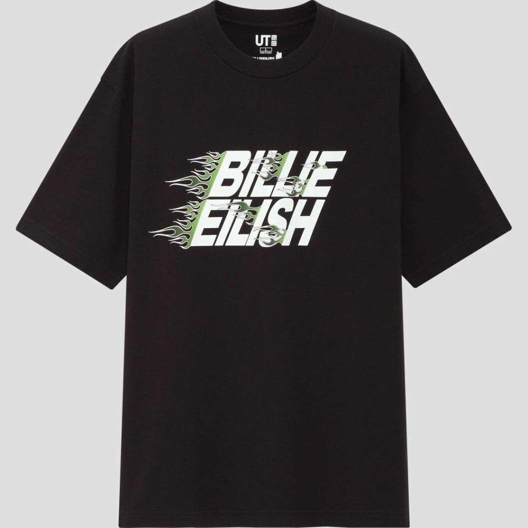 Billie Eilish x Takashi Murakami för Uniqlo: Svart t-shirt för herr