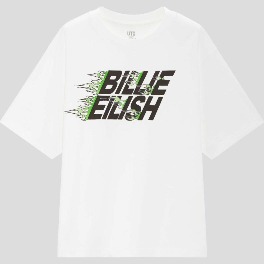 Billie Eilish x Takashi Murakami för Uniqlo: Vit t-shirt med logga