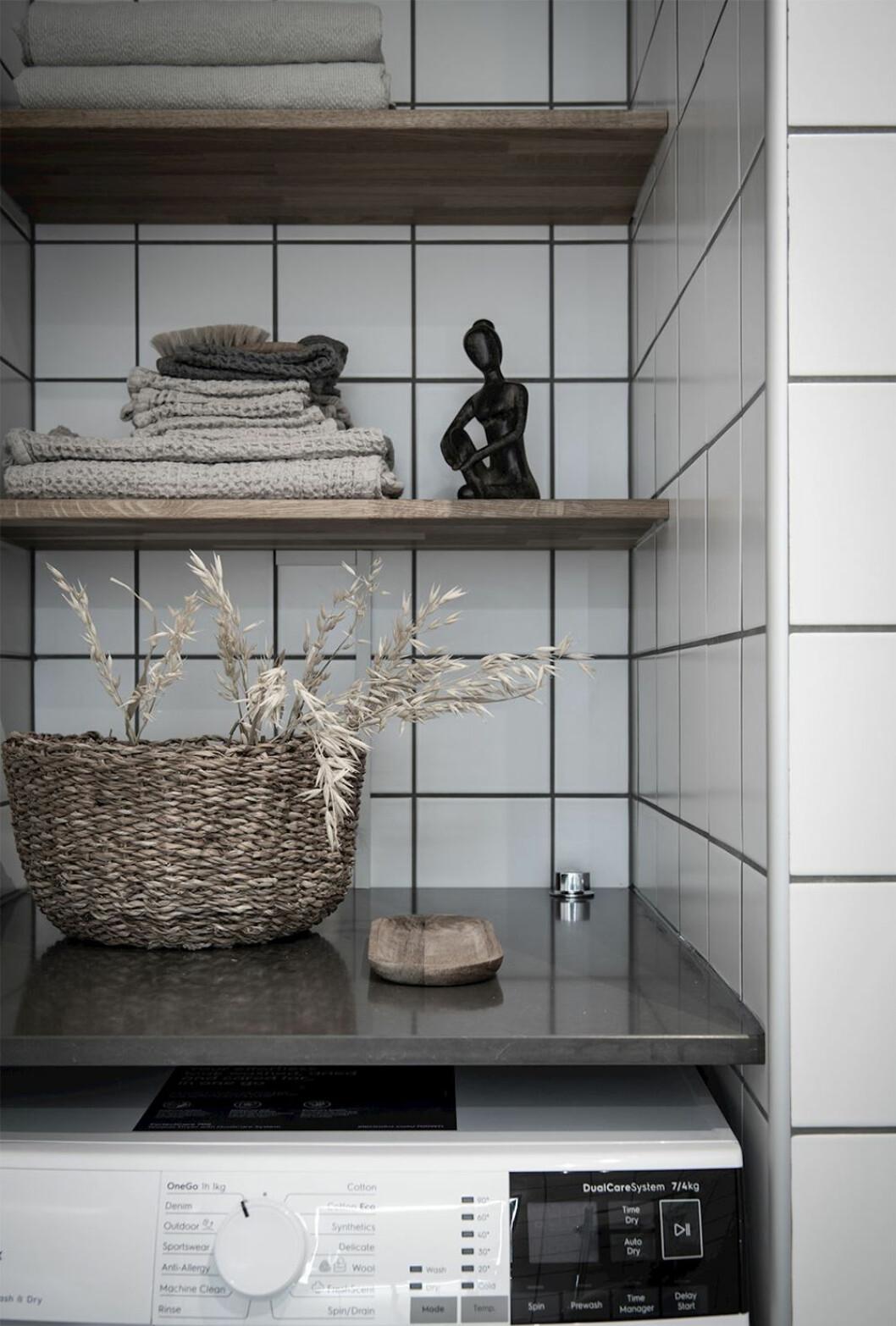 Naturmaterial i badrummet