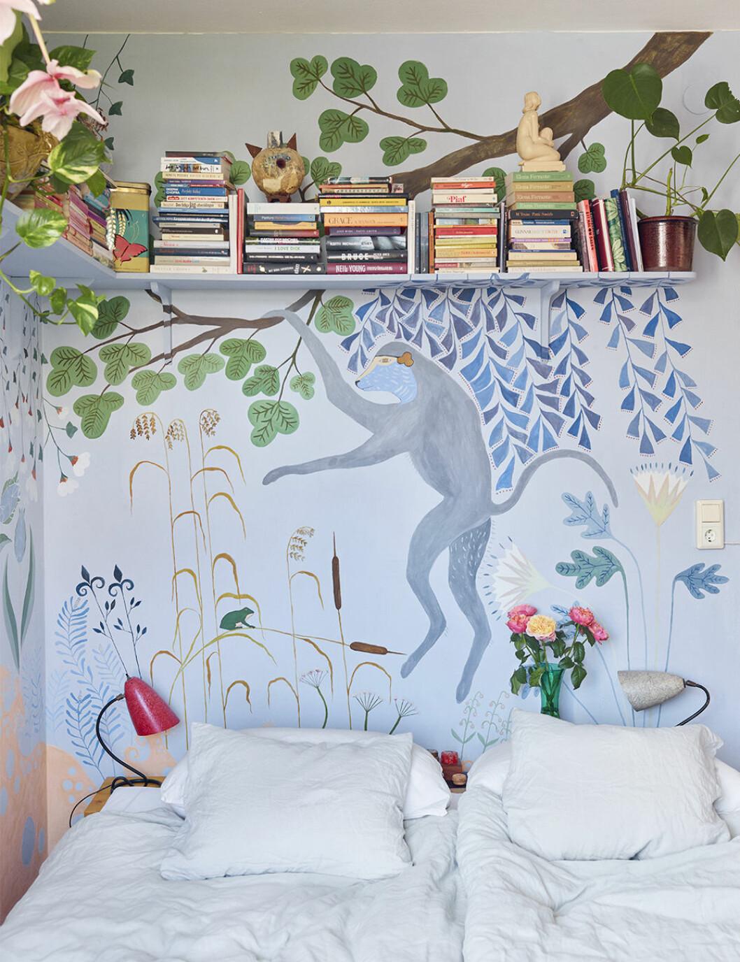 Sovrum hemma hos Ursula Wångander