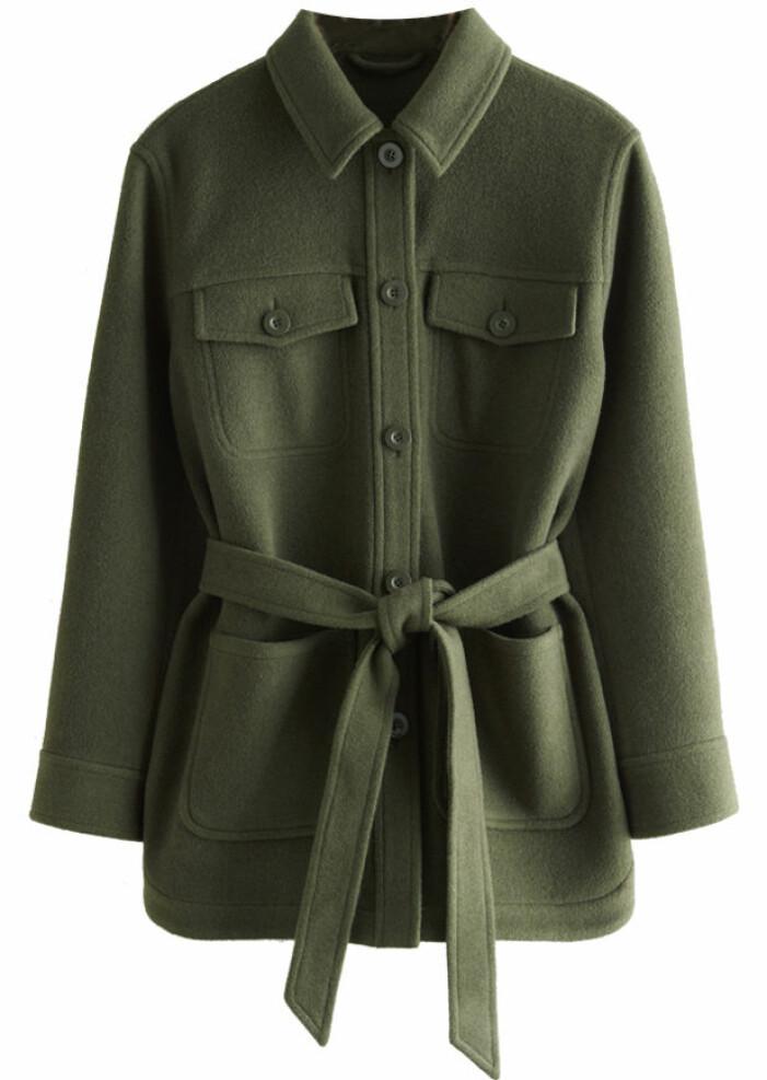 mörkgrön skjortjacka