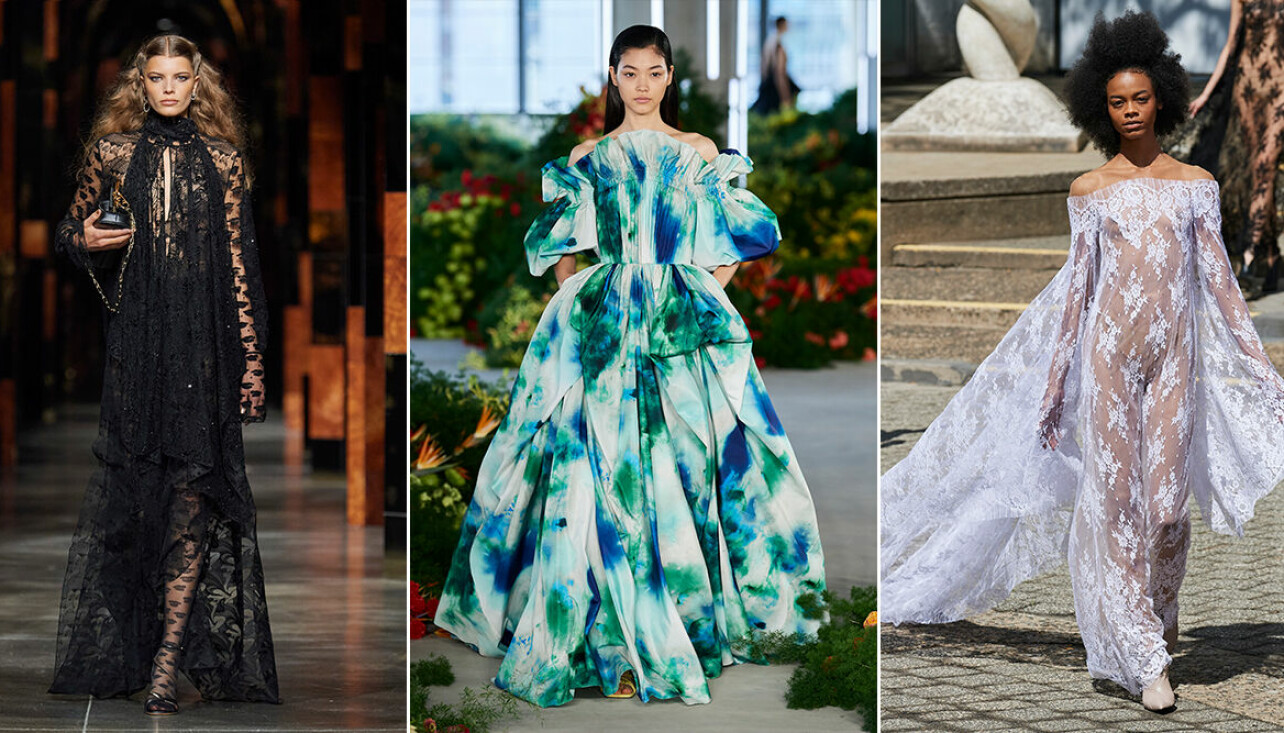 Vackraste klänningarna från de internationella modeveckorna