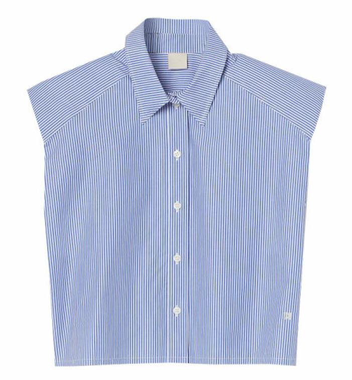 randig skjorta med axelkvaddar