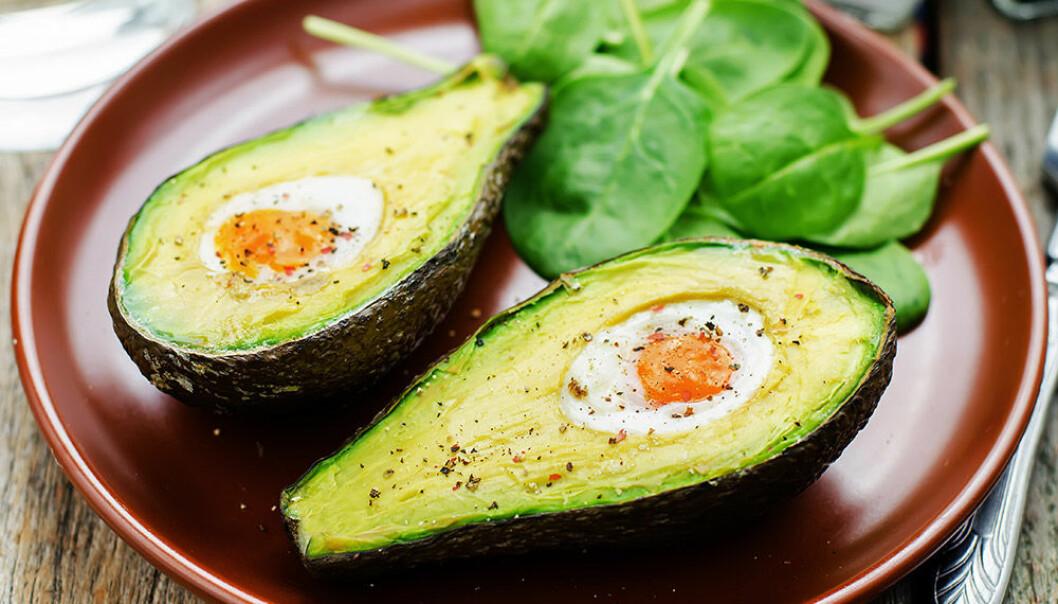 Testa bakad avokado med vaktelägg!
