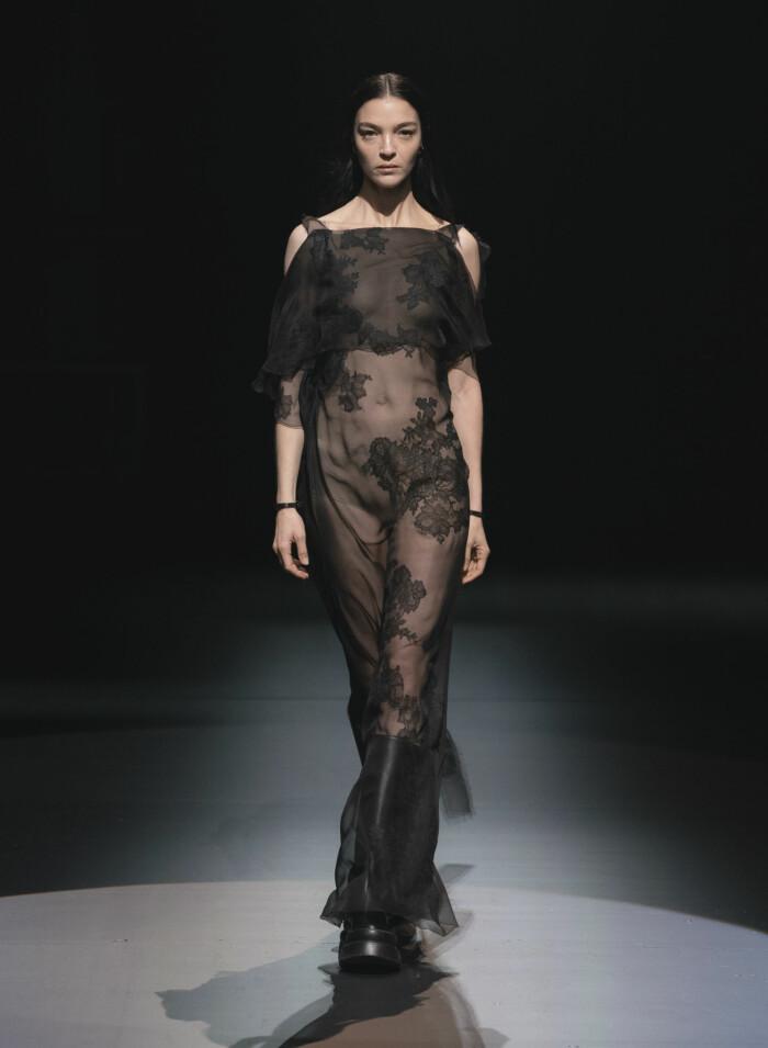 Skir transparent klänning