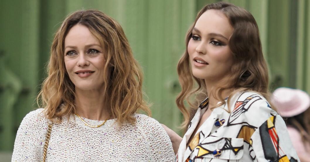 Vanessa Paradis med dottern Lily-Rose Depp