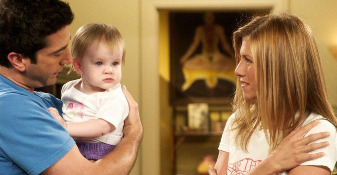 Ross, Rachel och Emma.