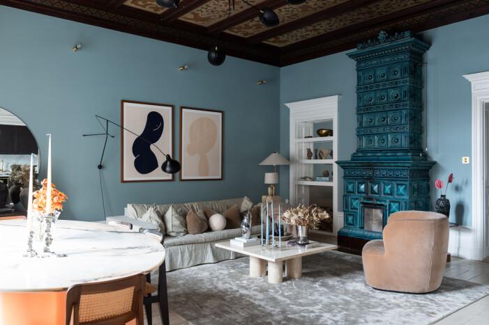 vardagsrum hemma hos Petra Tungården