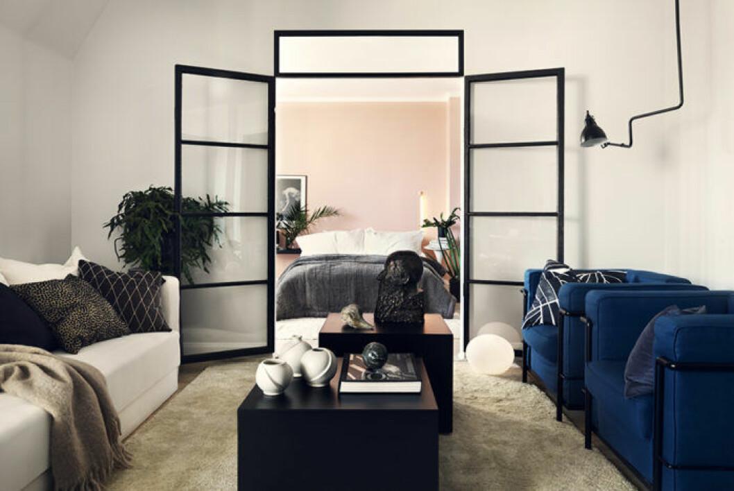 Glasdörrar sovrum
