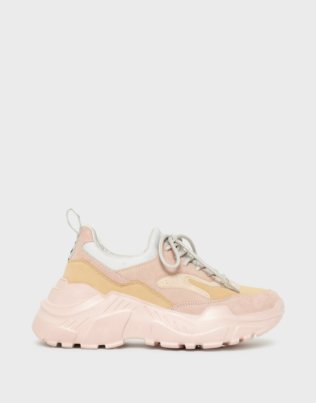 Rosa chunky sneakers från Only.