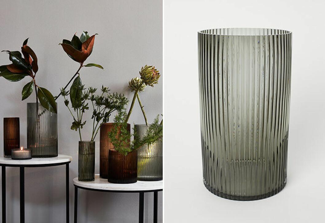 räfflad vas från H&M Home