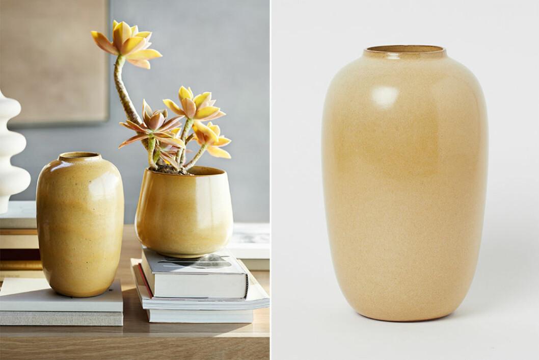 gul vas från H&M home