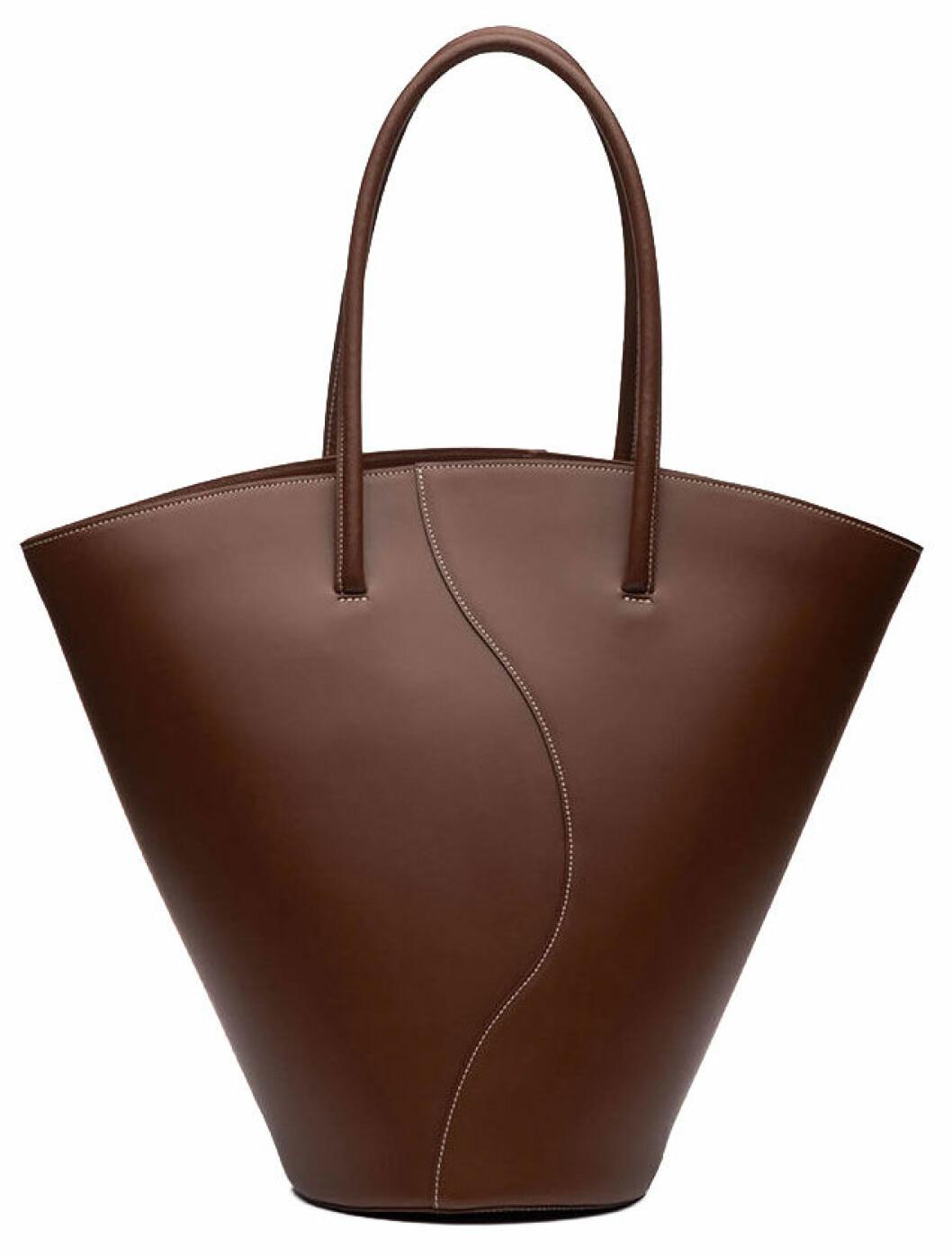 brun stor väska från little liffner