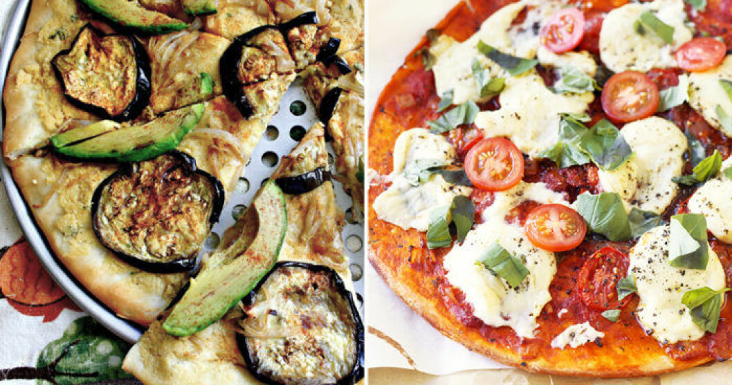 Veganpizzar kan vara minst lika goda som vanliga pizzor!