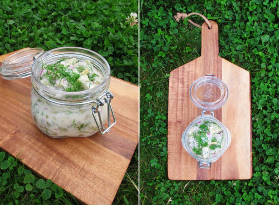 Recept på vegansk senapssill med aubergine, perfekt till påskbuffén