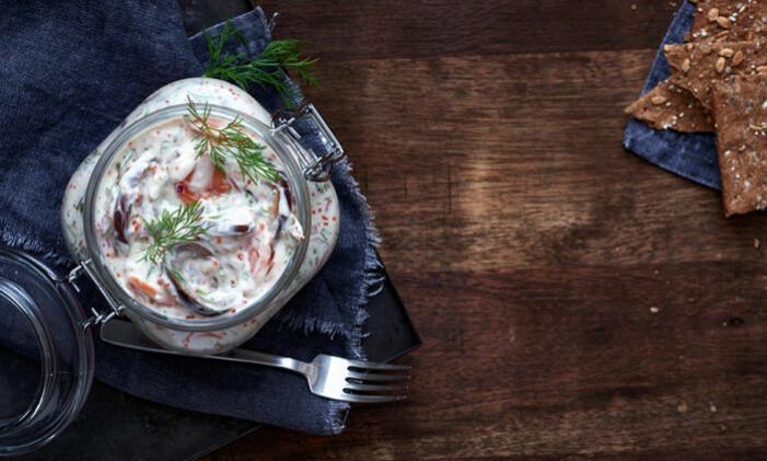 Recept på vegansk skärgårdssill med aubergine