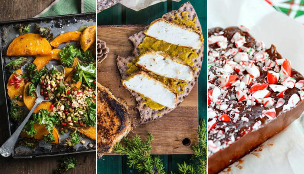 vegetariska och veganska recept julbord