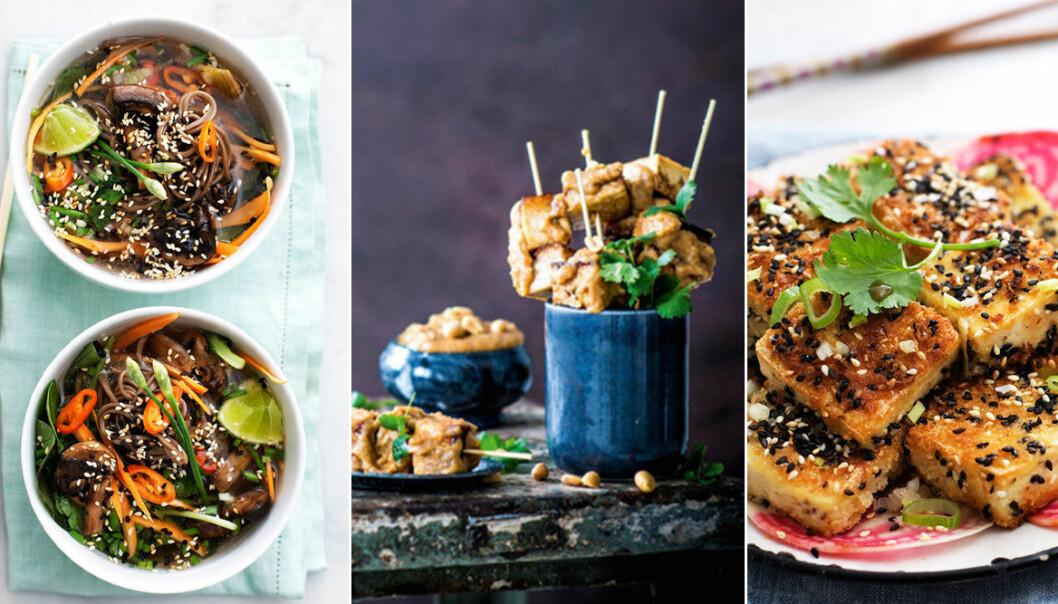 Vegetarisk och vegansk helgmat med asiatiska smaker