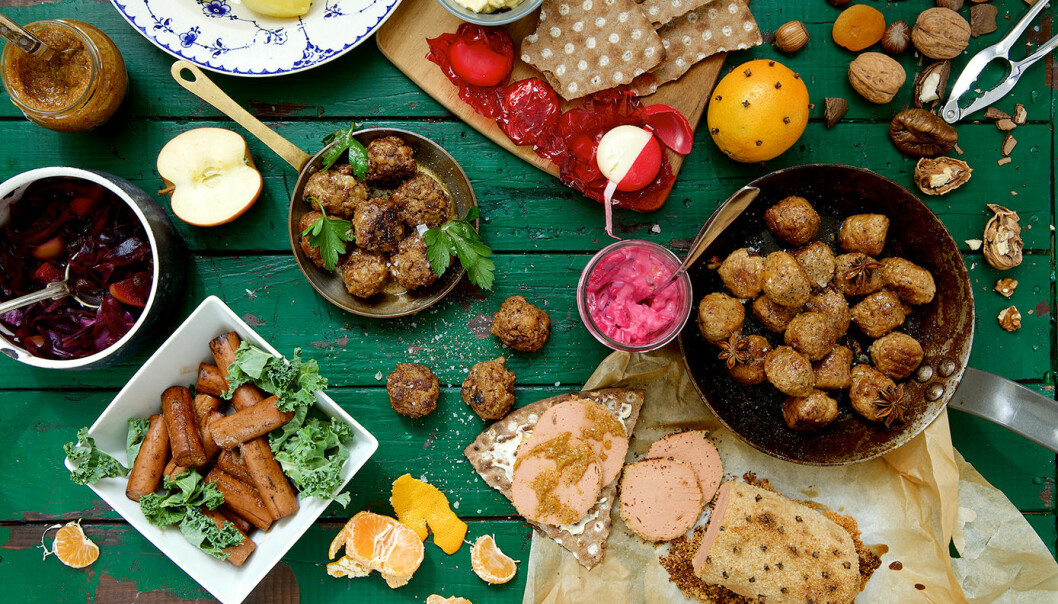 Vegetariskt julbord! Foto: Quorn