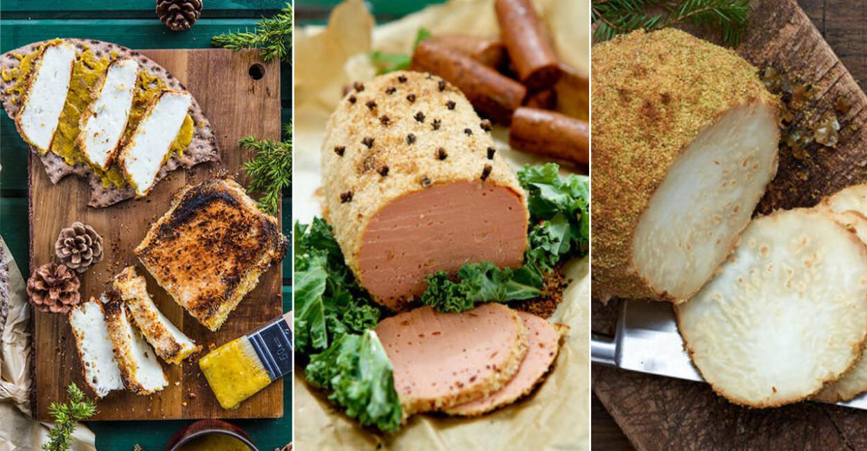 3 recept på vegetarisk julskinka