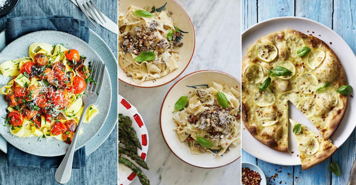 Recept på vegetarisk och vegansk helgmat med italienska smaker