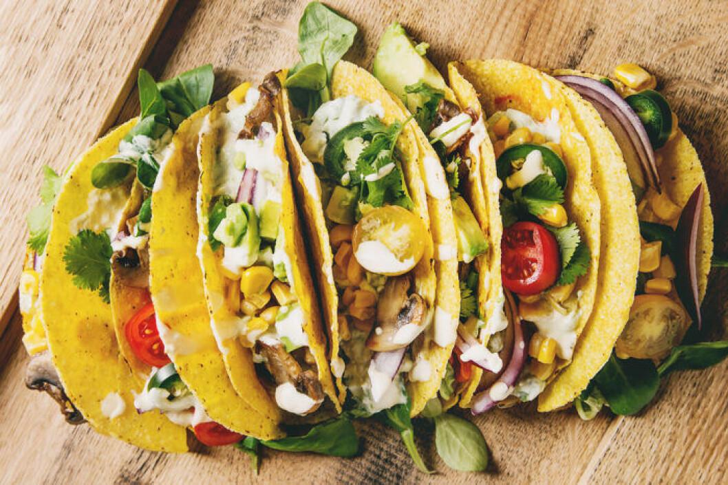 Testa att göra vegetariska tacos till fredagsmyset!