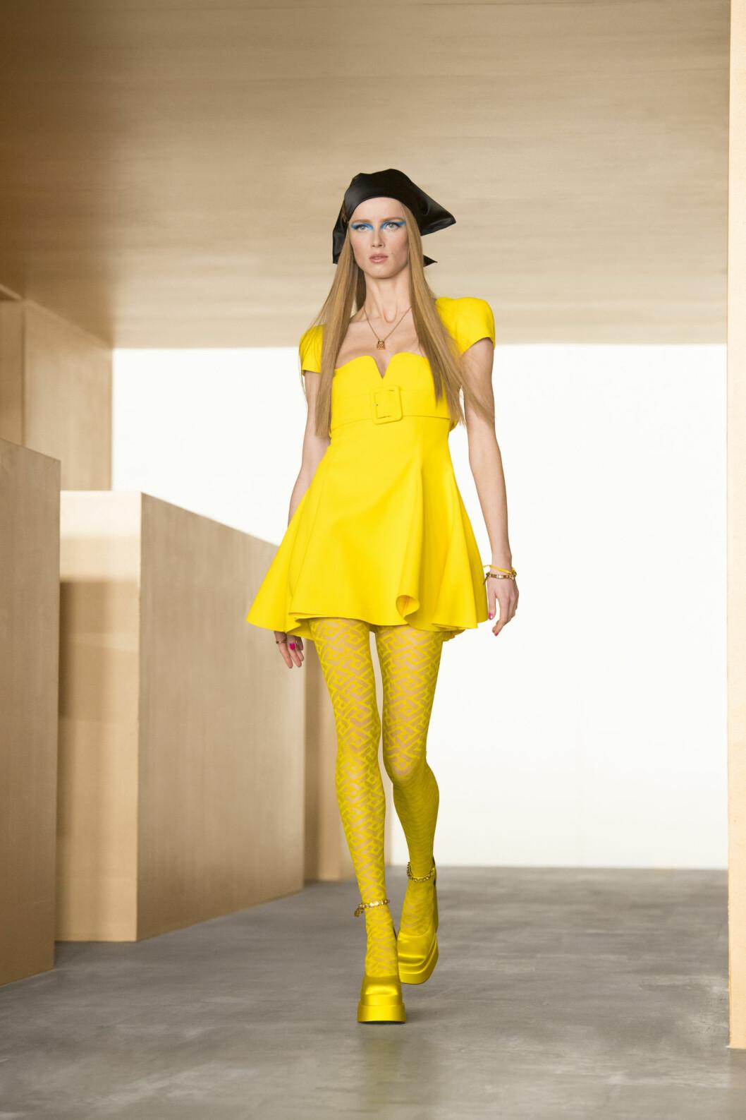 Citrongul klänning Versace