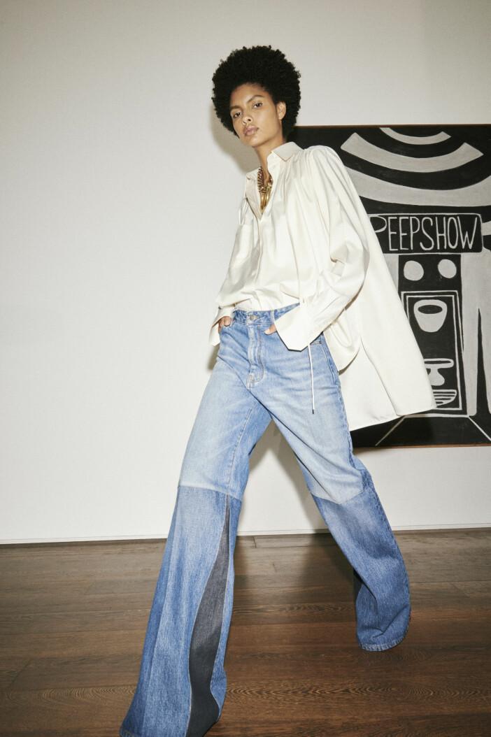 Vida lösa blå jeans Victoria Beckham