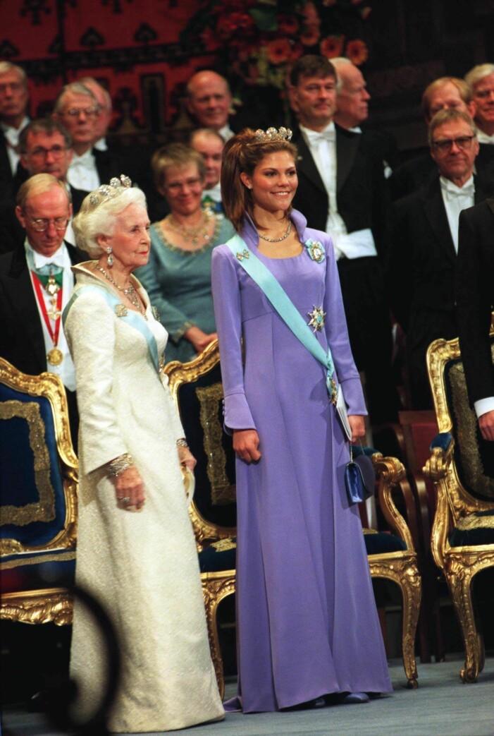 Kronprinsessan Victoria på Nobel 1997