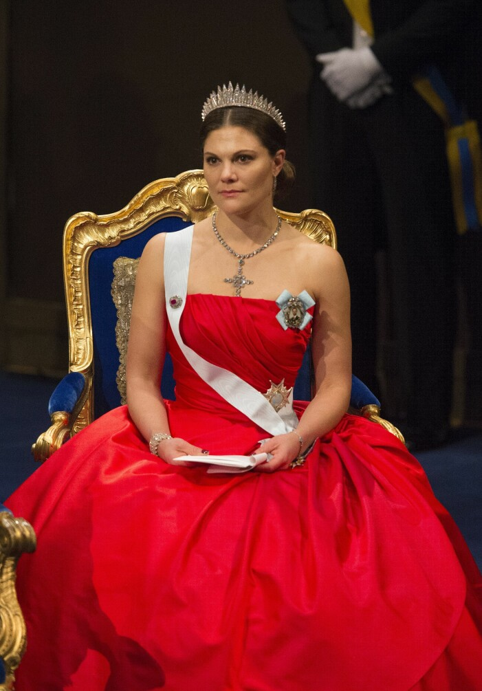Kronprinsessan Victoria på Nobel 2014