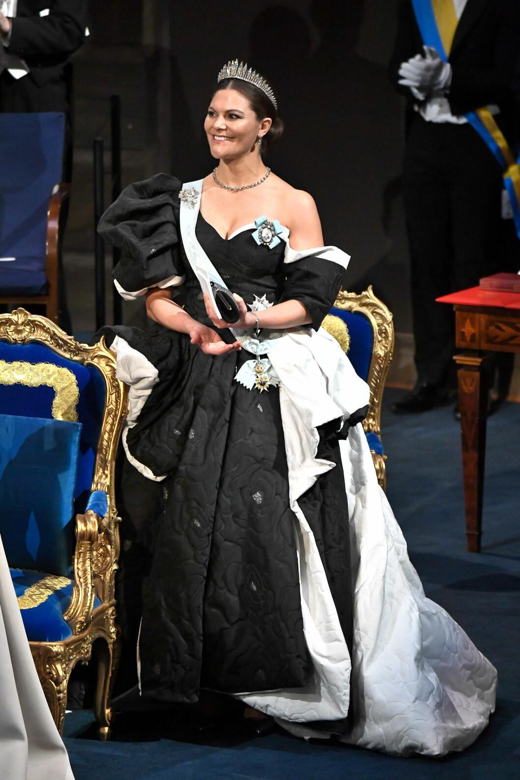 Kronprinsessan Victoria på Nobel 2019.