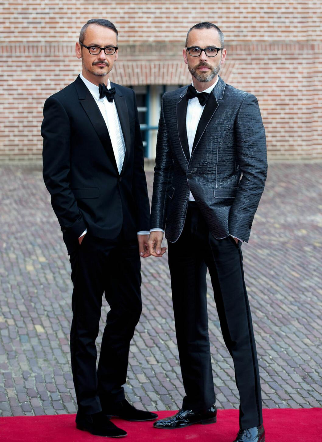 Designduon Viktor&Rolf i smoking