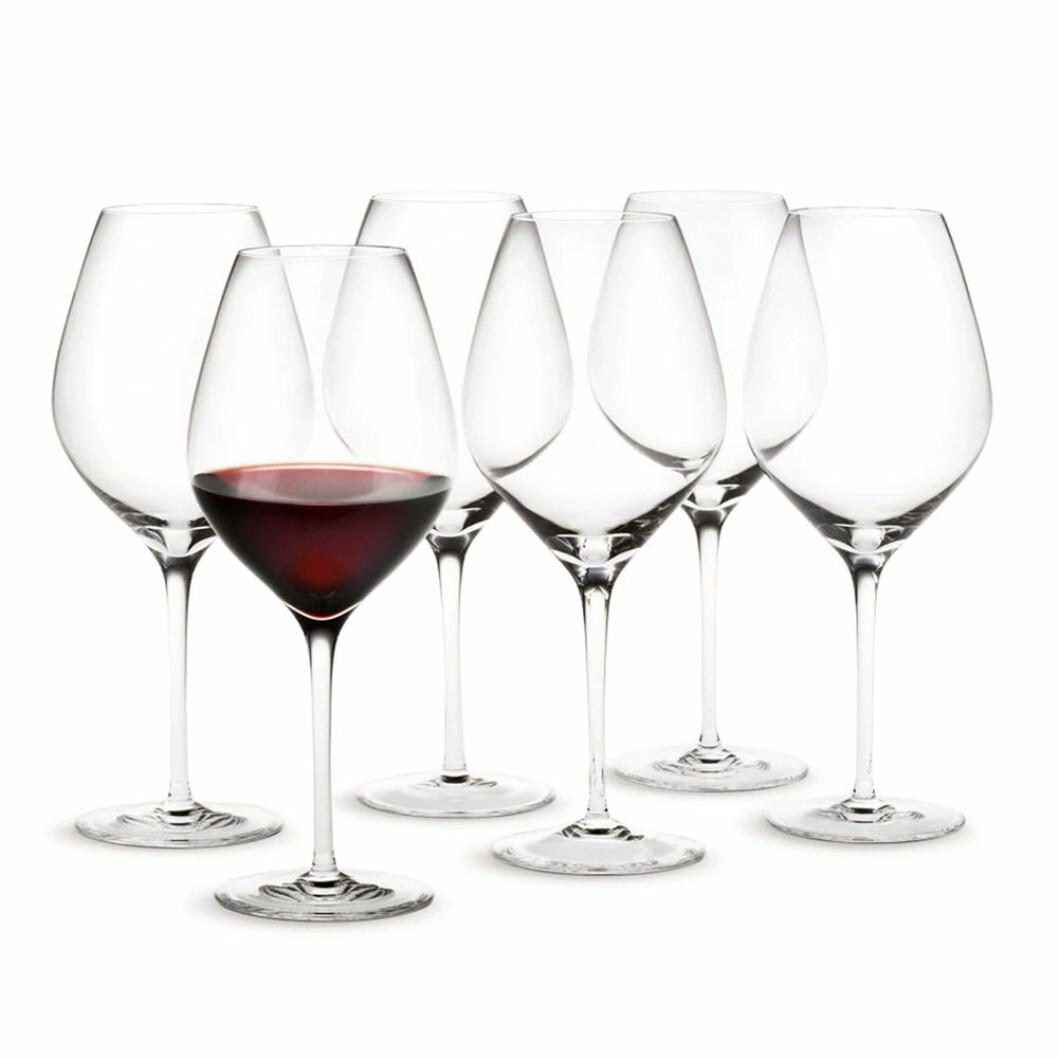Rödvinsglas från Holmegaard