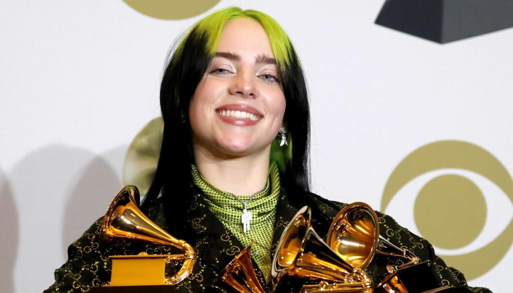 Billie Eilish på Grammy Awards 2020