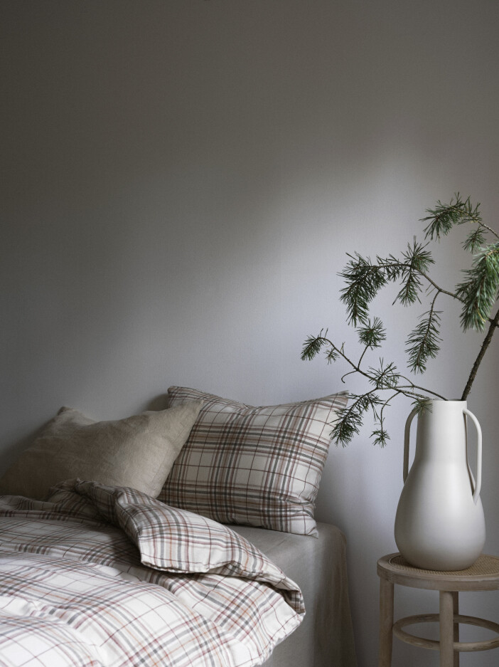 Julbäddning i rutig flanell hos Ellos Home