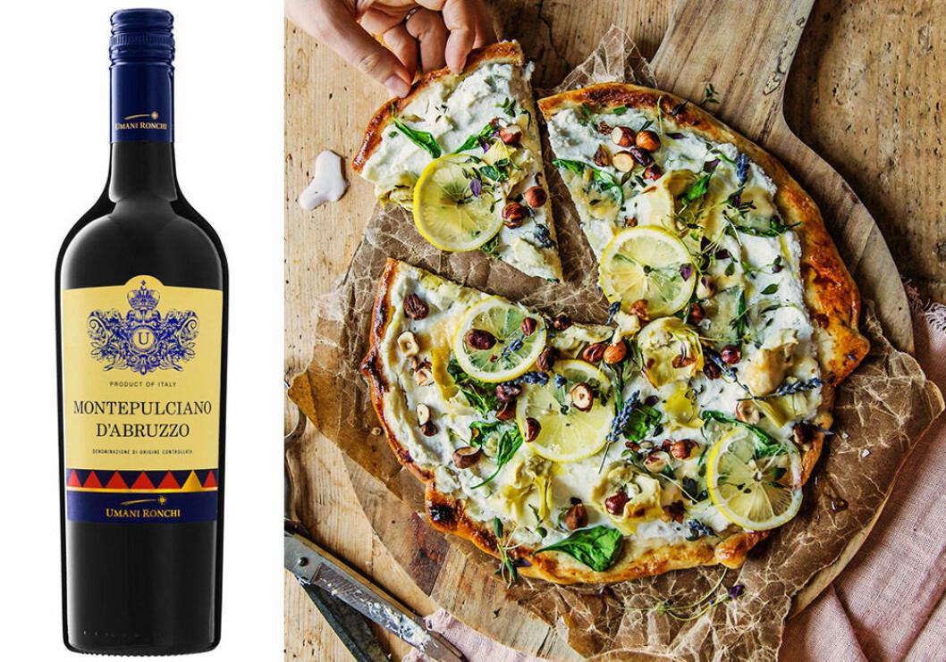Montepulciano d'Abruzzo passar till pizza.
