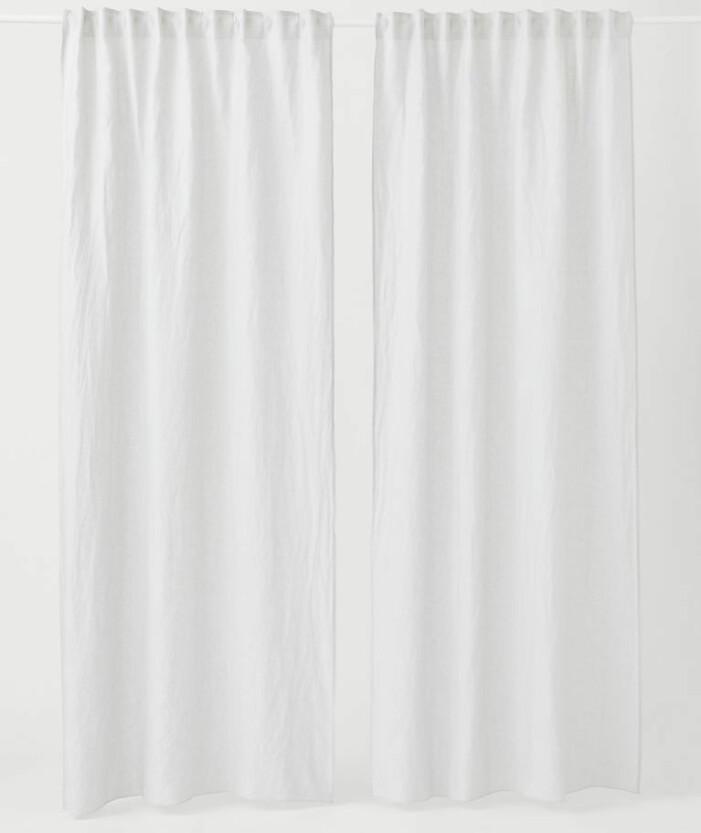 vita tunna gardiner i linne