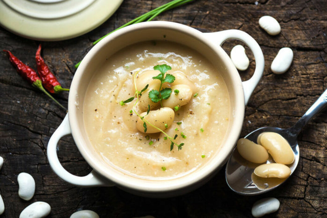 Vit böncrème. Foto: Shutterstock