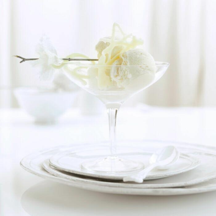 Recept på vit chokladglass med apelsinskal