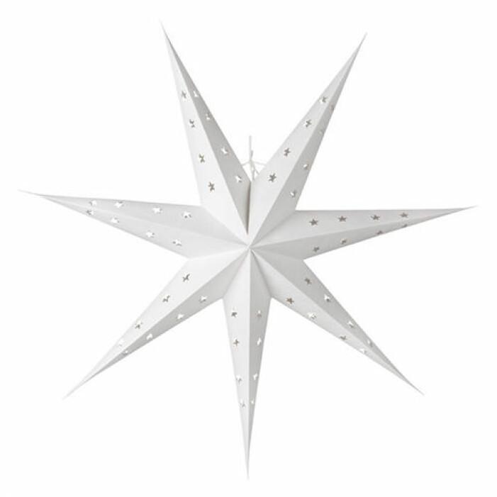 vit julstjärna stor