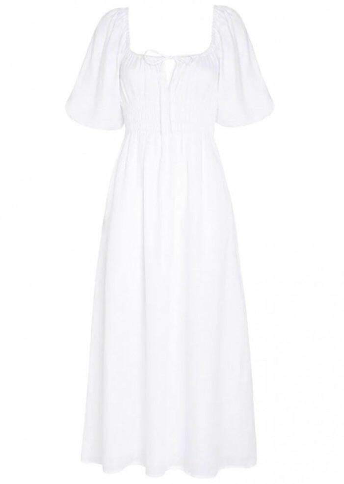vit klänning faithfull the brand