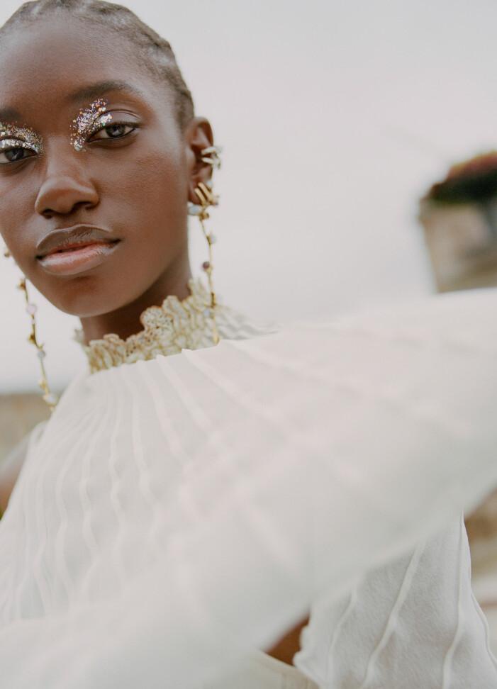 Vit klänning från Chloé