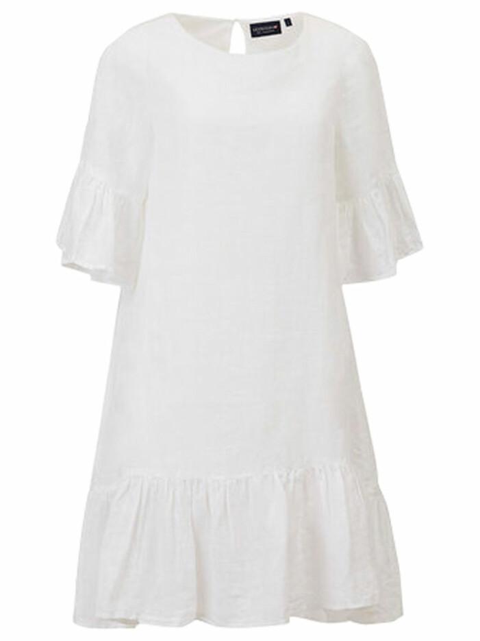 vit klänning i 100 % linne