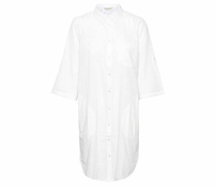 vit lång skjorta dam