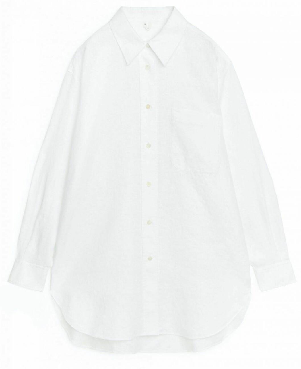 vit linne skjorta från arket.